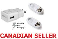 New Samsung Fast Adaptive Charging Wall Charger + Micro USB Cable / Type-C Cable