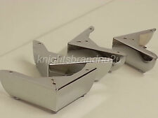 4x CHROME LEGS CHROME FURNITURE FEET  FOR SOFAS CHAIRS SETTEE STOOLS PRE DRILLED