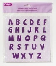 ALPHABET TEXTURE MAT - UPPER CASE FOR USE WITH SUGAR PASTE FOR CAKE DECORATING
