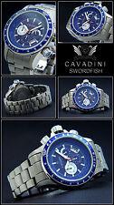 Solid Titanium Chronos Swordfish V.Cavadini Sport Model Action SALE Azure Blue