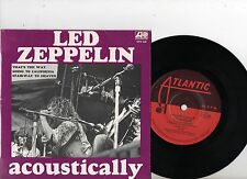LED ZEPPELIN EP PS Acoustically AUSTRALIA very rare EPA228 TOP CONDITION Aussie