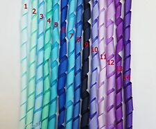 5 Pieces ~~10mm KORKER Grosgrain Ribbon 14 Colours U PICK -- BLUE/ PURPLE