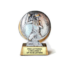 Softball, Female Trophy- Cast Resin- Batter-  Desktop Series- Free Lettering