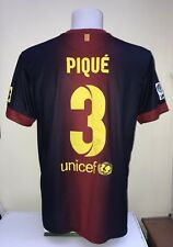 Barcelona Football Shirt Jersey PIQUE 3 Home Large L Adult Nike 2012 2013