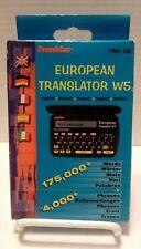 Franklin Twe-106 European Translator W5 (5 Languages) New/Open Box 1998