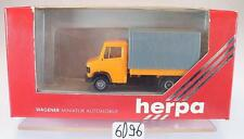 Herpa 1/87 4014 Mercedes Benz T2 Vario Pritsche/Plane neutral orange OVP #6096