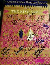 The King And I signed Broadway Review Ken Wantanabe Kelli O'Hara Hoon Lee RARE