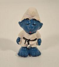"1981 Smurf Karate Taekwondo Judo 2"" Schleich PVC Vintage Action Figure Smurfs"