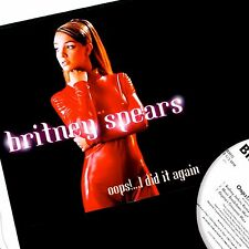 "BRITNEY SPEARS OOPS.. I DID IT AGAIN 12"" VINYL YEAR 2000 ORIGINAL PROMO RARE"