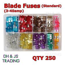 Assorted Box Blade Fuses 250 pcs Standard Fuse MIXED 3 4 5 10 15 20 25 30 40 amp