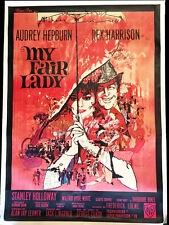 My Fair Lady Original Movie Poster - 47 x 63 - French - Hepburn - 1964 - VF
