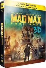 Mad Max - Fury Road 3D Blu ray Steelbook - 3 Disc set ( NEW ) English Audio