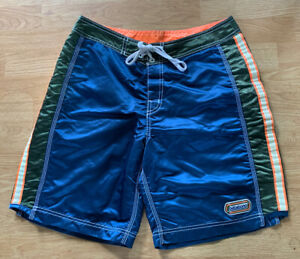 RARE Vintage Billabong Reflective Reactive Nylon Made USA Surf Board Shorts 32