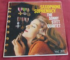 SONNY STIT QUARTET   LP ORIG US  VERVE MONO  SAXOPHONE SUPREMACY