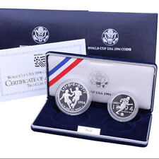 1994 Us Commemorative 2 Coin World Cup Proof Set Ogp
