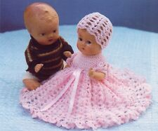 Baby Doll Crochet Pattern 4 Pieces Copy DRESS Panties Bonnet Bootees