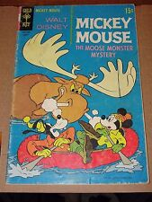 Walt Disney MICKEY MOUSE #122 Gold Key August 1969 - The Moose Monster Mystery