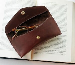 Handmade leather Sunglass Case eyewear Case Glasses Case [Stamping service]