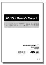 KORG N1/N5 OWNER'S MANUAL N1 N5 N 1 5 N-1 N-5  - PRIORITY SHIPPING!