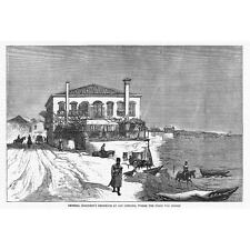RUSSO TURKISH WAR San Stefano Residence Where The Peace Was Signed-Print 1878