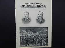 Illustrated London News Cover S8#10 Feb 1888 Torchlight Procession to Dublin