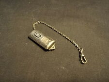 "Old Vtg Hickok Silver Plated Pocket Watch Fob With Initial ""G"" Jewelry"