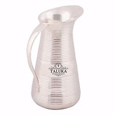 Pure Brass Silver Plated Jug Pitcher 1500 ML Water Storage Container Hotel Home