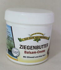 (3,13€/100ml) Ziegenbutter Balsam Creme 200ml Creme mit Olivenöl und Aloe Vera