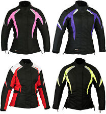 Purple Ladies Motorcycle Waterproof Protection Jacket All Sizes M