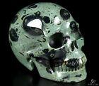 "3.5"" KAMBABA JASPER Carved Crystal Skull, Realistic, Crystal Healing"