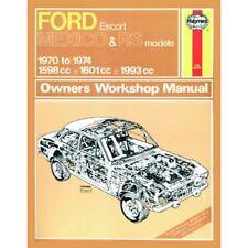 0139 Haynes Ford Escort Mk I del Messico, Rs 1600 & RS 2000 (70 - 74) Manuale Officina