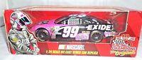 Jeff Burton NASCAR #99 Stock Car Diecast 1:24 Scale Replica Exide Batteries Toy