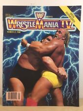 Wrestling WWF Souvenir Programs Collectors Edition Wrestlemania  IV 1988