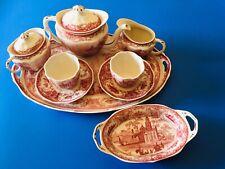 🔴 Elegante Tete a tete Servizio da tè the caffè manifattura inglese