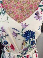 Monsoon Glasshouse Meadow Cotton Ivory Party Wedding  Dress Size 18 Bnwt Hols