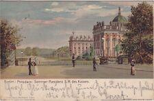 uralte AK, Berlin - Potsdam, Sommerresidenz S. M. des Kaisers 1901
