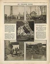 Battle of Lowicz Ruines Bzoura River Poland Imperial Russia Army Polska 1915 WWI