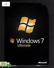 New Genuine Microsoft Windows 7 Ultimate 32/64-Bit Retail Box **SEALED** NEW
