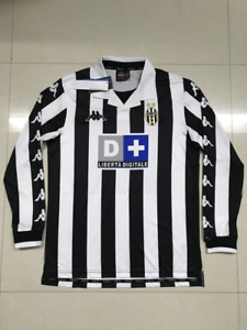1999-2000 Juventus Home Long Sleeve Retro Soccer Jersey