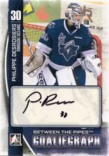 13/14 BETWEEN THE PIPES GOALIEGRAPH AUTOGRAPH AUTO PHILIPPE DESROSIERS *42443