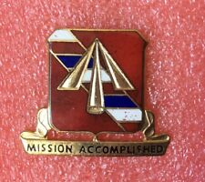 Pins MILITAIRE 41st FIELD ARTILLERY Unit Crest MISSION ACCOMPLISHED US ARMY