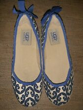 Ladies flat Blue Ballet Canvas Shoes By UGG - Size 2