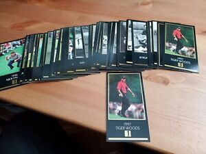 1 SET MASTERS COLLECTION GOLF CARDS 1934-1997 + 1997 GOLD FOIL TIGER ROOKIE!