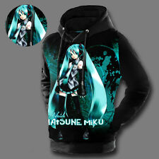 New Hatsune Miku VOCALOID Anime Cosplay Pullover Hoodies Unisex Sweatshirt Coat