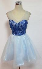NWT MASQUERADE $85 Light Blue Dance Prom Party Dress 5