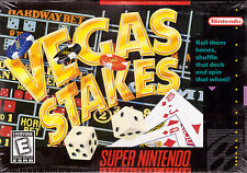Vegas Stakes [Nintendo Super SNES, Casino Slots Blacjack, NTSC Cartridge] NEW