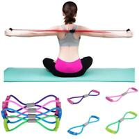 1x Fitness Equipment Elastic Resistance Bands Tube Exercise Band For Gym Yoga