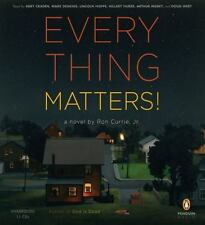 BOOK/AUDIOBOOK CD Ron Currie Fiction Novel EVERYTHING MATTERS!