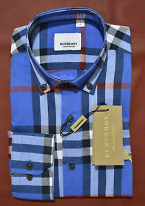 NEW WITH TAGS MENS BURBERRY LONG SLEEVE SHIRT SIZE Small to 2XL[Regular,S]