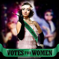 VOTES FOR WOMEN SUFFRAGETTE SASH Cheap Emmeline Pankhurst Fancy Dress Costume